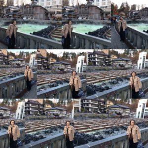 草津温泉湯畑と私