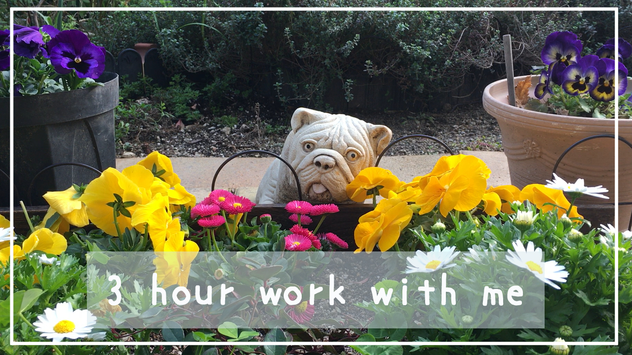 【3 Hour Work with Me】一緒に作業をしましょう♪【50/10 Pomodoro】